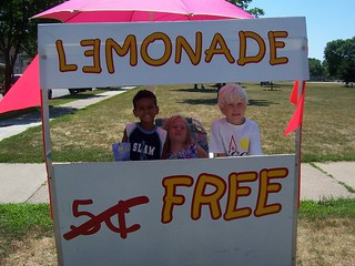 I will make a lemonade on a hot day and give the treats away for free on your behalf.